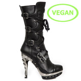 New Rock High Heel Vegan Boots M.PUNK001-VS1