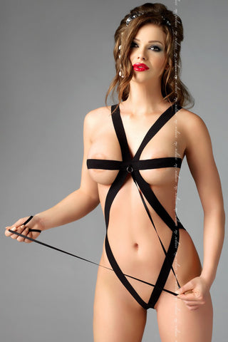 Me Seduce Vilte Harness Black