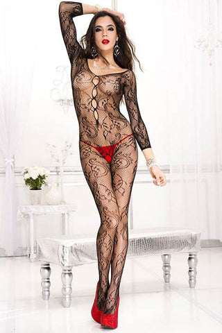 Music Legs Bodystocking 1012