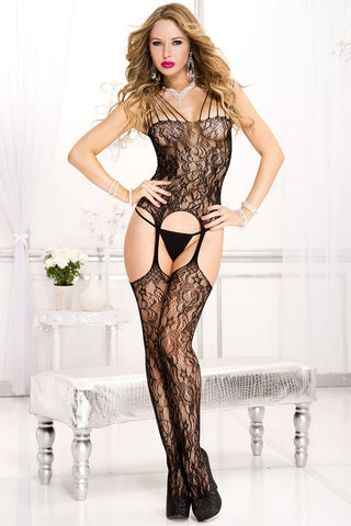 Music Legs Bodystocking 1013