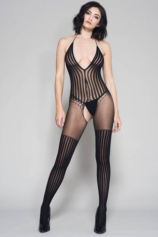 Music Legs Bodystocking 1049