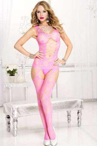 Music Legs Bodystocking 1719 Pink