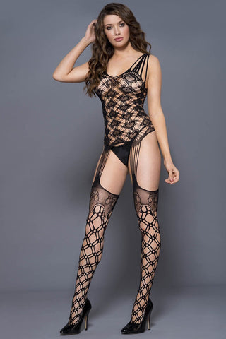 Music Legs Bodystocking 1820