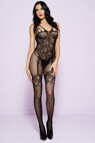 Music Legs Bodystocking Black 1783