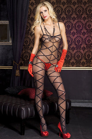 Music Legs Criss Cross Bodystocking