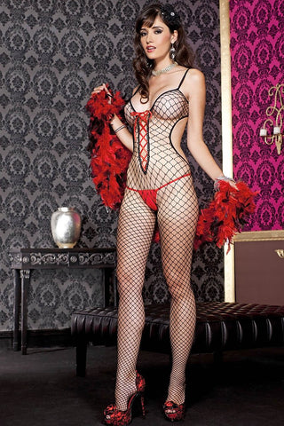 Music Legs Diamond Net Bodystocking