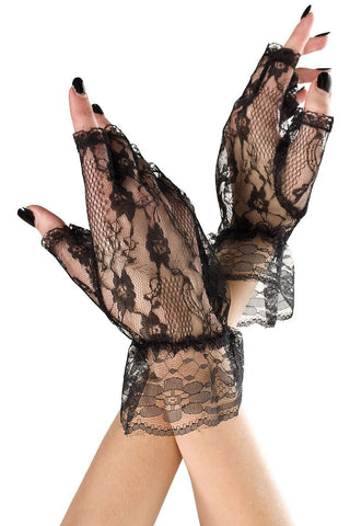Music Legs Lace Fingerless Gloves