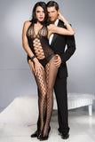 Music Legs Honeycomb Bodystocking