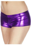 Music Legs Metallic Mini Shorts Purple