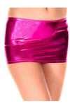 Music Legs Metallic Mini Skirt Pink