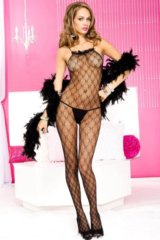 Music Legs Micro Net Bodystocking