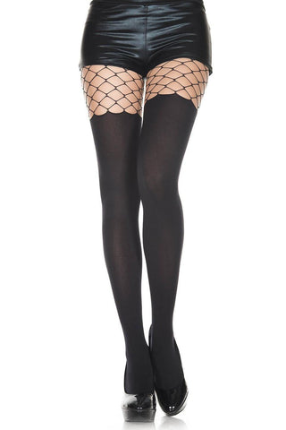 Music Legs Fence Net Tights