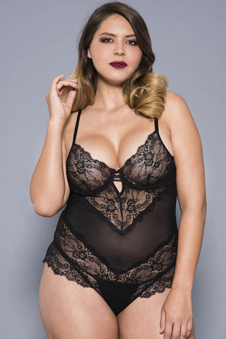 Music Legs Plus Size Teddy 80041Q