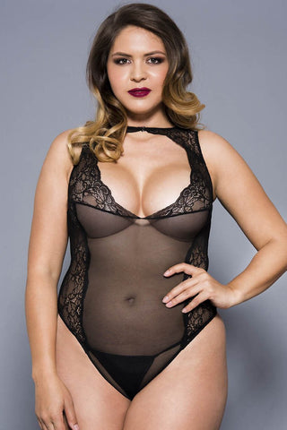Music Legs Plus Size Teddy 80067Q