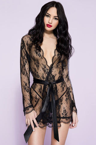 Music Legs Sheer Lace Robe