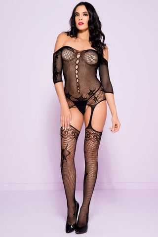Music Legs Star Bodystocking