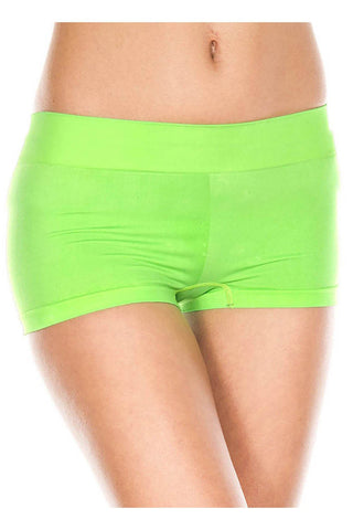 Music Legs Stretched Booty Shorts Neon Green