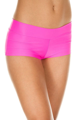 Music Legs Stretched Booty Shorts Neon Pink