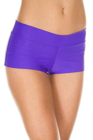 Music Legs Stretched Booty Shorts Purple