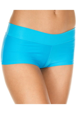 Music Legs Stretched Booty Shorts Turquoise