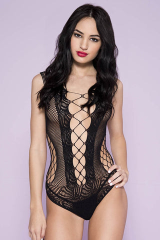 Music Legs Net and Lace Teddy