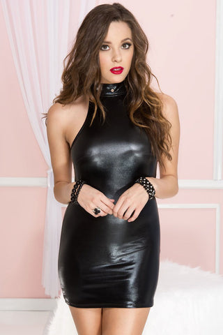 Music Legs Wetlook Dress
