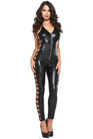 Music Legs Wetlook side cut Bodysuit