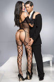 Music Legs Open Cup Fishnet Bodystocking
