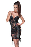 Noir Handmade Wetlook and Lace Dress