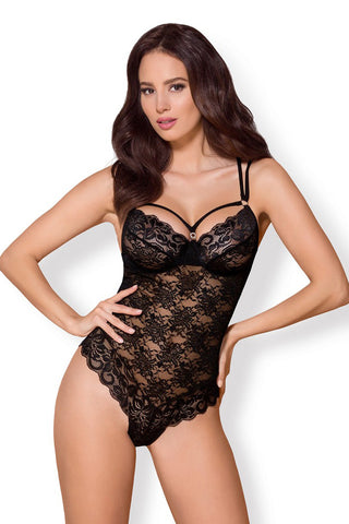 Obsessive Black Lace Body