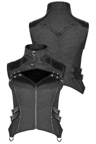 Punk Rave She Trooper Military Steampunk Waistcoat WY-967