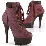Pleaser DELIGHT 600TL 02 Boots Burgundy
