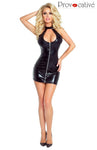Provocative 4874 Wet Look Dress