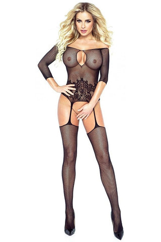Provocative Black Bodystocking 4182