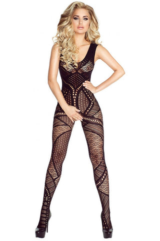 Provocative Black Bodystocking 4692
