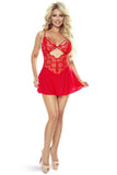 Provocative Instants Lovers Babydoll Red