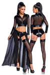 Saresia Transparent Black Gogo Set