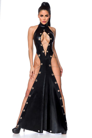Saresia Wetlook Maxi Dress