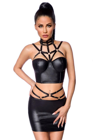 Saresia Wetlook Set with Skirt