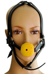 Ball Gag Head Harness Yellow