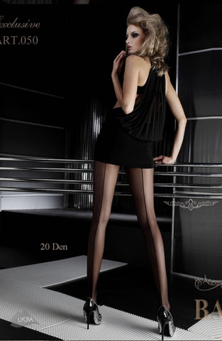 Ballerina Tights Nero Black With Back Seam - 050 - Fetshop