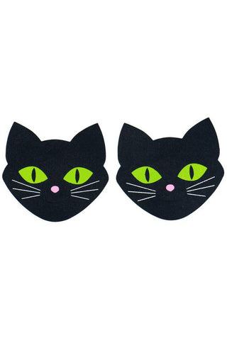 Black Cat Glow in the Dark Pasties