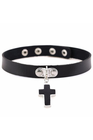 Black Gothic Cross Choker