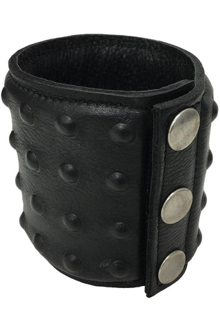 Black Leather Studded Wrist Cuff