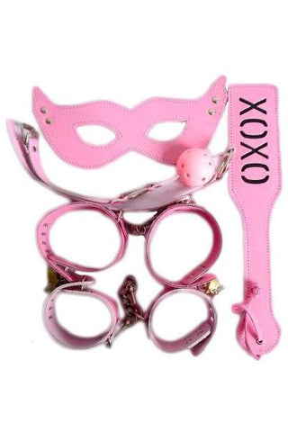 Bondage Set Five Piece Pink Bondage Kit