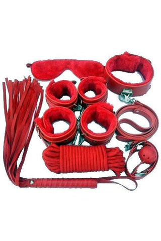 Bondage Kit 8 Piece Red