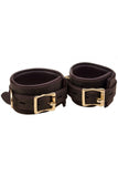 Bound Nubuck Leather Ankle Restraint Cuffs