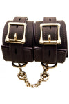 Bound Nubuck Leather Wrist Restraint Cuffs