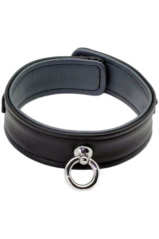 Bound to Please Black Luxe Collar with O Ring