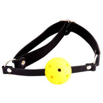 Yellow Ball Gag with Adjustable Strap - Fetshop